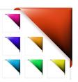 colorful corner ribbons vector image