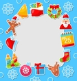 Merry Christmas Celebration Card vector image vector image