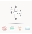 Spark plug icon Car electric part sign vector image