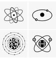 Atom set vector image vector image