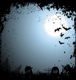 Flying bats Halloween background vector image