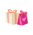 birthday gifts in cartoon style vector image