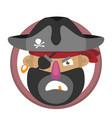 Cartoon pirates head vector image