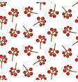 red currant berry seamless pattern on white vector image