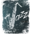 saxophone poster vector image
