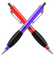 Set of Colorful Pens Isolated vector image