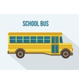 Yellow school bus vector image