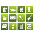 Flat kitchen and household equipment icon vector image
