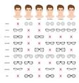 man sunglasses shapes 5 vector image
