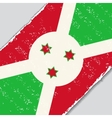 Burundi grunge flag vector image
