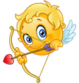 cupid emoticon vector image vector image