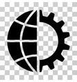 global industry icon vector image