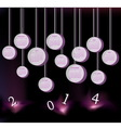 Calendar for 2014 year with circles vector image vector image