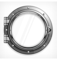 Porthole seascape on white vector image