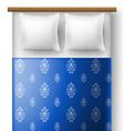 Bed from top view with pillows vector image vector image