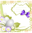 Easter day card or background vector image
