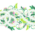 border with celtic ornament and flowers thistle vector image vector image