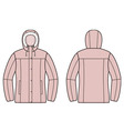 Down jacket vector image
