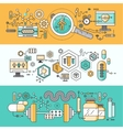Concept study of human medicine vector image