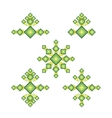 Set rhombus logo vector image