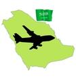 fly me to the Saudi Arabia vector image