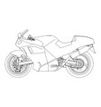 bike sport speed mountain motorbike motorcycle vector image