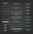 chalkboard ornaments and decorations set vector image