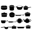 Cookware icons set vector image