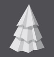 origami fir tree concept background realistic vector image