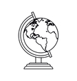 pictogram globe map world earth business icon vector image