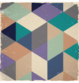 Retro geometric background vector image