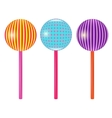 Set of colorful round lollipops vector image