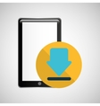 smartphone black download graphic vector image