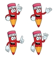 Talking cartoon pencils set vector image