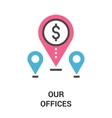 our offices icon concept vector image