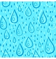 Blue water drops rainy seamless pattern vector image