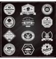 Vintage bakery chalkboard labels set vector image