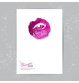 Brochure template with beauty salon logo vector image vector image