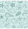 background with sea shells stars stones vector image