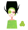 woman with facial mask vector image vector image