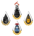 The icons of the oil industry vector image vector image