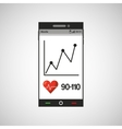 cellphone health tool virtual app vector image