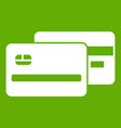 credit card icon green vector image