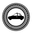 emblem taxi side car icon vector image