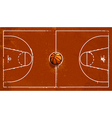 Grunge basketball playground vector image