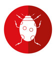 ladybug insect nature icon shadow vector image