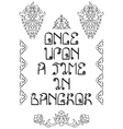 Once Upon a Time in Bangkok Holidays Poster vector image