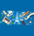 paris agreement climate accord carbon emission vector image