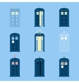 Set of British Police Boxes Icons telephone in vector image