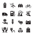 silhouette save the world icons set vector image